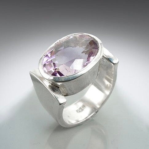 "Amethyst ""Clamp"" Ring"