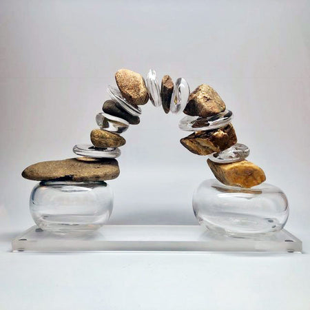 """Cairn"" - Extra Large w/ glass bottom   6""x7""x11"