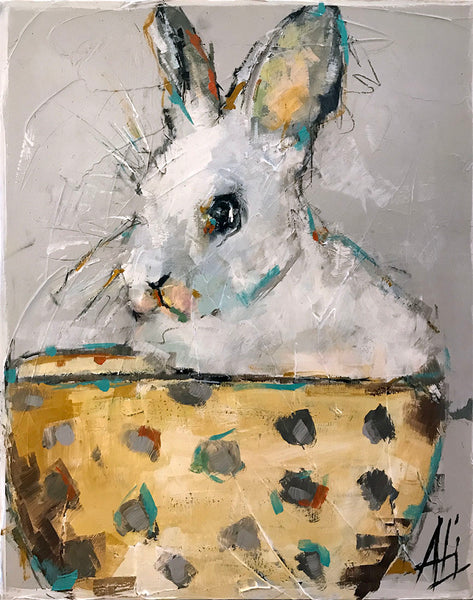 """Bunny in a Tea Cup""   24""x30"""