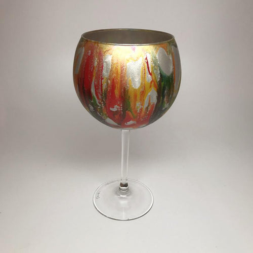 Wine Goblet- Carnival, multi-color - Made to Order