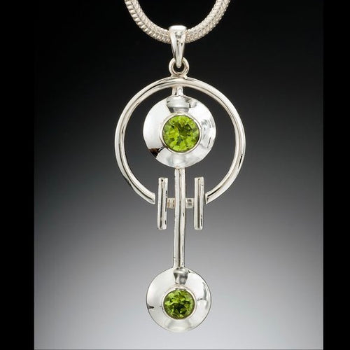 Peridot Crop Circle Pendant