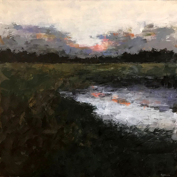 """Distant Horizon""   36""x36"""
