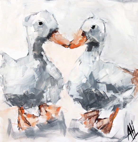 """Drake and Hen""   30""x30"""