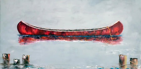 """Red Sail at Sunset""   48""x36"""