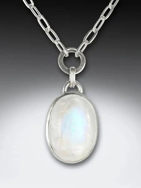 Oval Moonstone on Chain