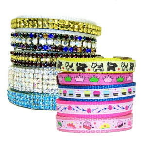 Fancy dog collars, fancy cat collars, bling collars and decorative styles.