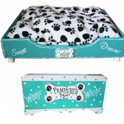 Personalized dog beds and toy boxes for cats too. Custom made in the USA.