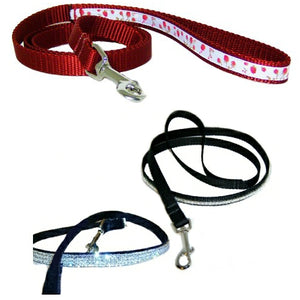 Pet leashes including bling bling pet leashes and decorative styles.