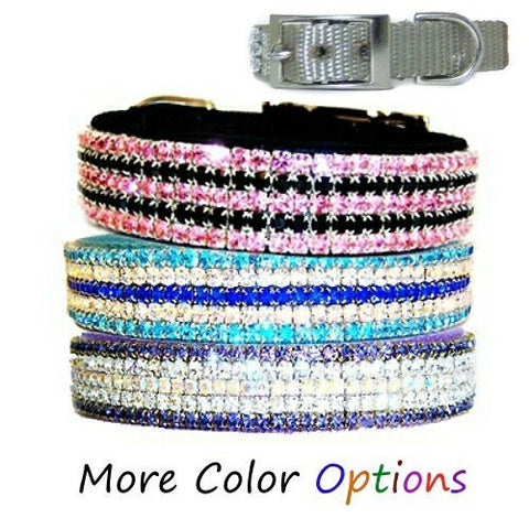 Large crystal dog collar in your choice of collar and crystal colors.