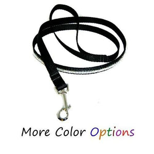 Custom pet leash with 1 row of crystals in your choice of colors.