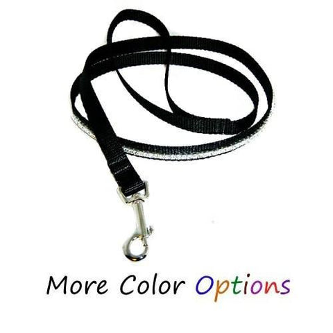Custom One Row Crystal Pet Leash - dog-collar-fancy