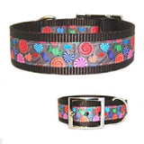 1 1/2 Inch Wide Sweet Candy Dog Collar - For medium to large dogs