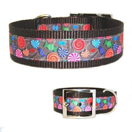Our sweet candies printed dog collar for large dogs will make your dog even sweeter.
