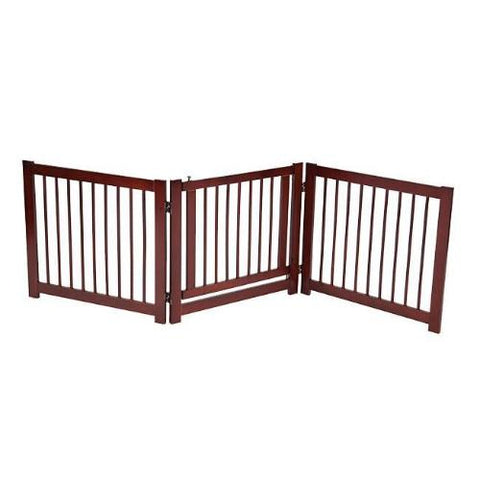 360 Degree Configurable Pet Gate With Door 24 Inch.