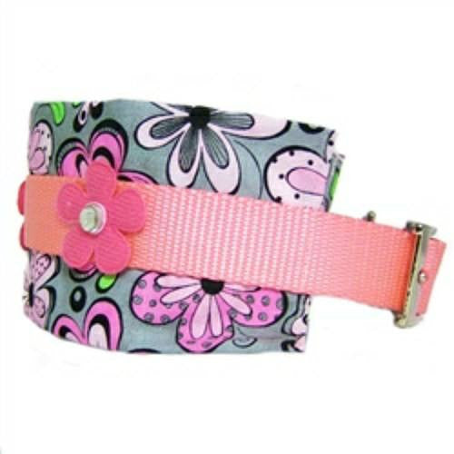 Mod print large dog collar side view.
