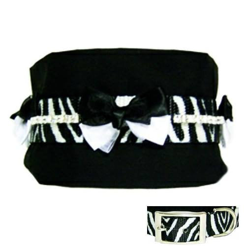 3 Inch Wide Collar Cuddler Zebra - For medium to large dogs - dog-collar-fancy