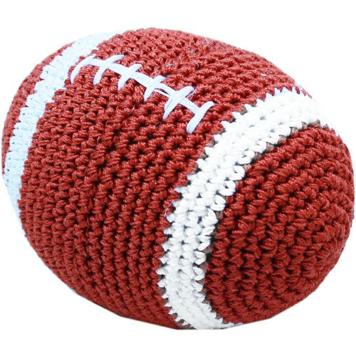 Football dog toy in organic cotton.