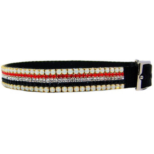 Autumn Air Crystal Dog Collar side view