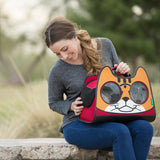 Backpack Cat Carrier in Purple for cats