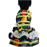 Model dog in birthday dog dress balloons print