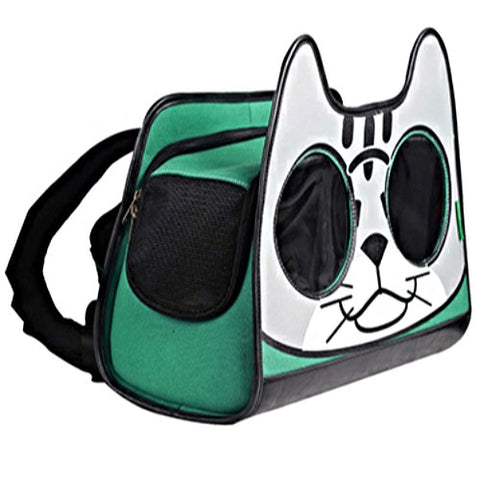 Backpack Cat Carrier - Green - dog-collar-fancy