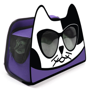 Backpack Cat Carrier - Purple - dog-collar-fancy