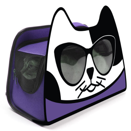 Backpack Cat Carrier - Purple - For Cats - dog-collar-fancy