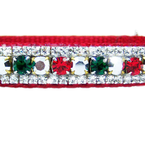 Christmas Cheer Dog Collar close up