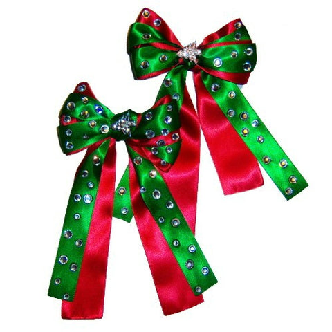 Christmas Dog Collar Bow Accessory - For small to large dogs - dog-collar-fancy