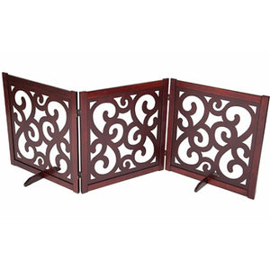 Designer pet gate 27 by 81 inches.
