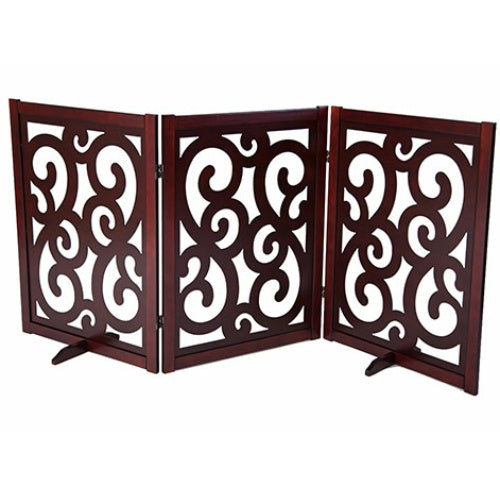 Classic Designer Dog Gate 35 inch - For Dogs - dog-collar-fancy