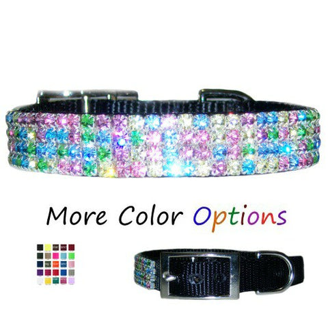 Pretty pastel jeweled collar for dogs and cats.