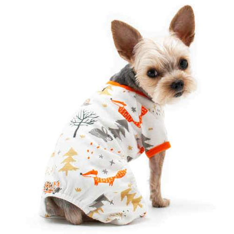 Winter Forest Animals Dog Pajamas model dog