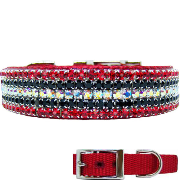 Fantasy Flash crystal dog collar for medium to large dogs