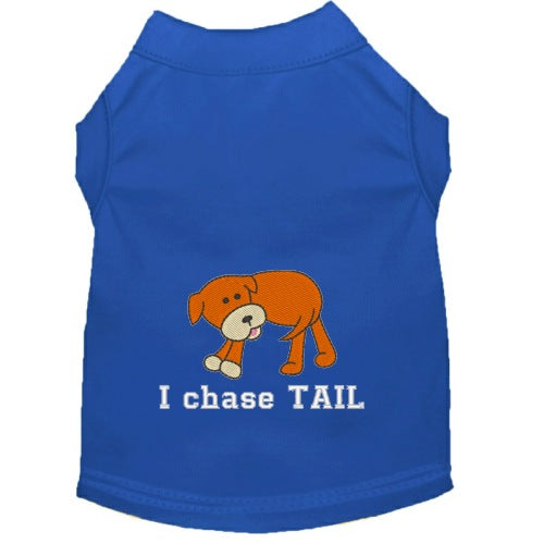 Dog Shirt - I Chase Tail - Small to Medium Dogs - dog-collar-fancy