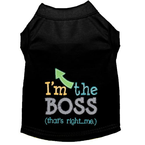Dog Shirt - I'm the Boss - Small to Large Dogs - dog-collar-fancy