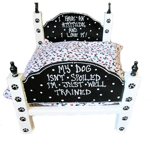 Hand made and hand painted dog bed for the spoiled dog.