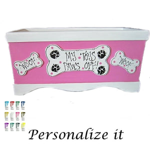 Custom Made Dog Toy Box - For Dogs - dog-collar-fancy