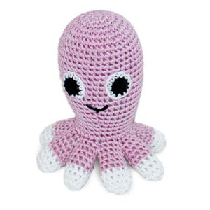 Crocheted Octopus Dog Toy organic