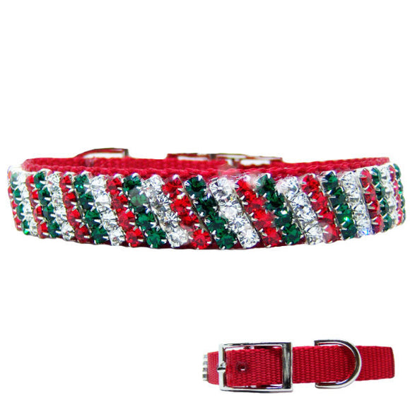 Christmas collar Favorite Elf in crystal stripes