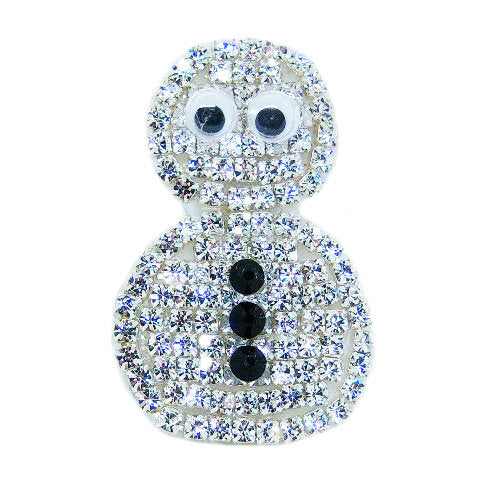 Ladies Brooch - Snowman - dog-collar-fancy