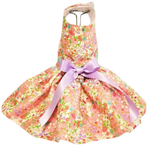 Tea Time dog dress in a beautiful floral print