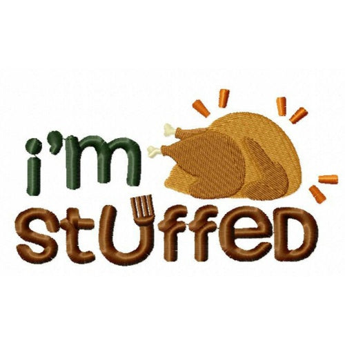Thanksgiving Dog Shirt - I'm Stuffed - Small to Large Dogs - dog-collar-fancy