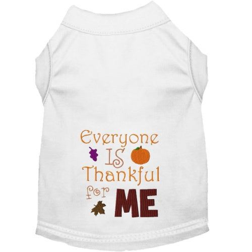 Thanksgiving Dog Shirt - Thankful for Me - Small to Large Dogs - dog-collar-fancy