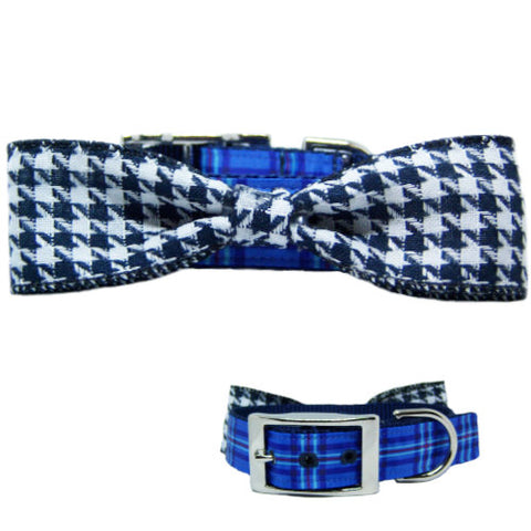 The Dork Dog Collar with Bow Tie