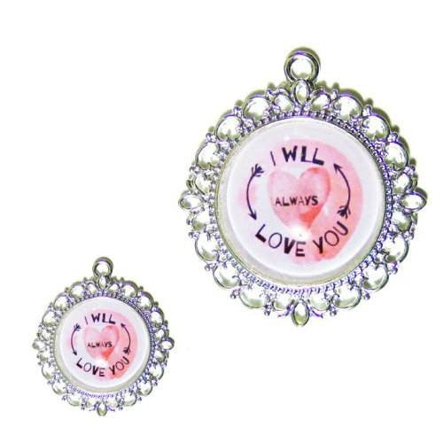 Dog Tag - I Will Always Love You - pet charm - dog-collar-fancy