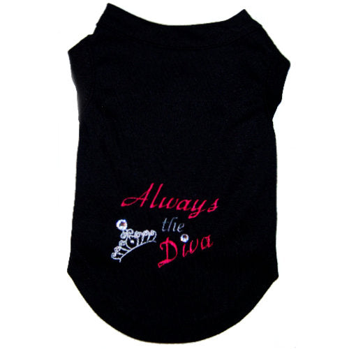 Embroidered Dog Shirt - Always the Diva