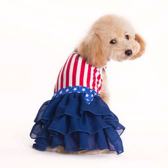 American Girl patriotic dog dress