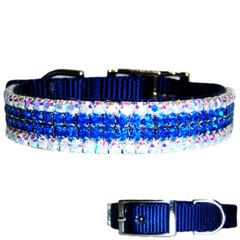 Aurora Seas Fancy Crystal Dog Collar