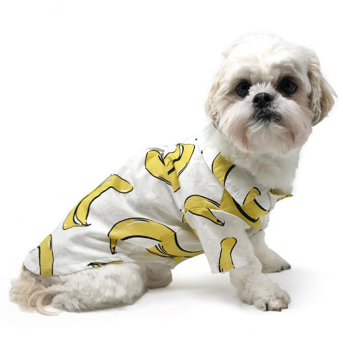 Bananas dog shirt for small to large dogs